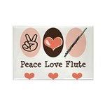 Peace Love Flute Rectangle Magnet