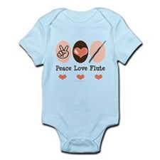 Peace Love Flute Infant Bodysuit