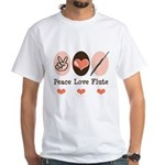 Peace Love Flute White T-Shirt