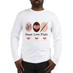 Peace Love Flute Long Sleeve T-Shirt