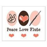 Peace Love Flute Small Poster