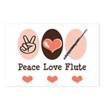 Peace Love Flute Postcards (Package of 8)