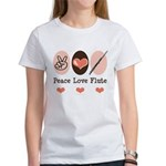 Peace Love Flute Women's T-Shirt