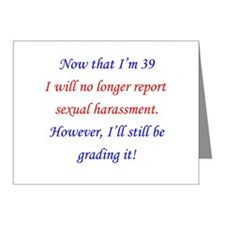 Sexual harassment 39 Note Cards (Pk of 10)