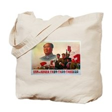 Floating Chairman Mao Design Tote Bag