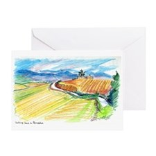 Looking Back to Pamplona Greeting Card