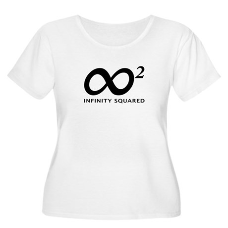 INFINITY SQUARED Women's Plus Size Scoop Neck T-Sh