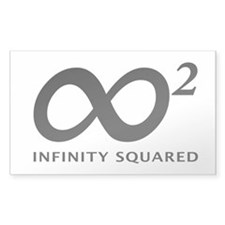 INFINITY SQUARED Rectangle Decal