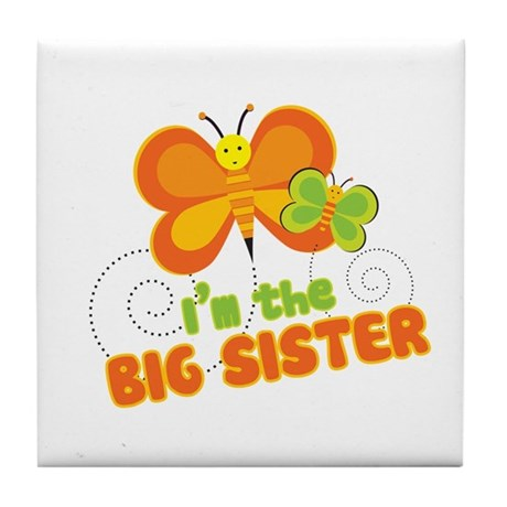 Big Sister Butterfly Tile Coaster