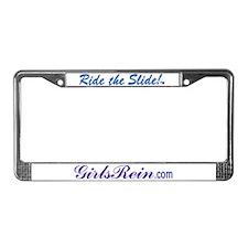 Ride the Slide words License Plate Frame