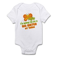 Butterfly Big Sister Twins Infant Bodysuit