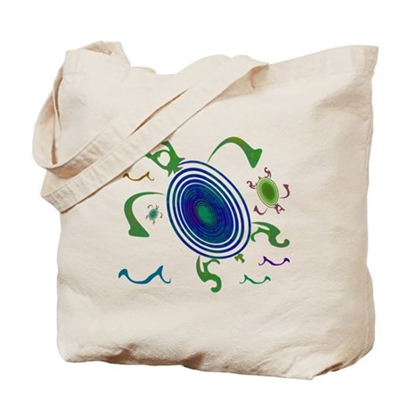 Spiral Turtles Tote Bag