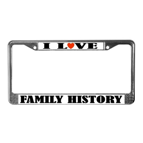 Family History License Plate Frame