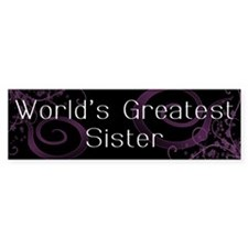 World's Greatest Sister Bumper Sticker (50 pk)