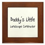 Daddy's Little Landscape Contractor Framed Tile