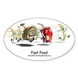 Fast Food Oval Sticker (50 pk)