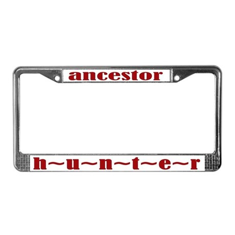 Ancestor Hunter License Plate Frame