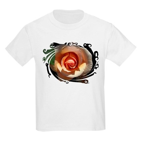 Peach Rose Kids Light T-Shirt