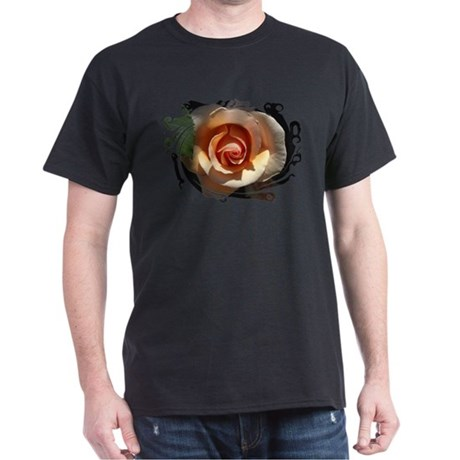 Peach Rose Dark T-Shirt