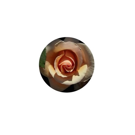Peach Rose Mini Button (10 pack)