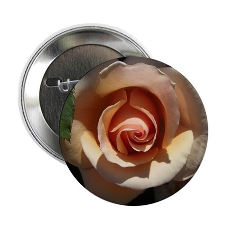 Peach Rose 2.25&quot; Button