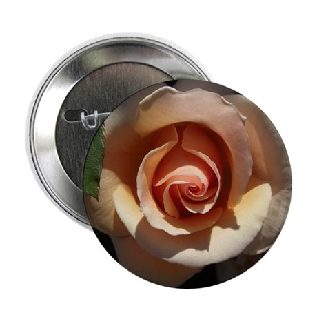 "Peach Rose 2.25"" Button (100 pack)"