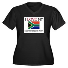 I Love My South African Mom Women's Plus Size V-Ne