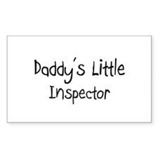 Daddy's Little Inspector Rectangle Decal