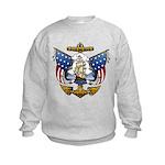 Naval Anchor Tattoo Kids Sweatshirt