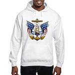Naval Anchor Tattoo Hooded Sweatshirt