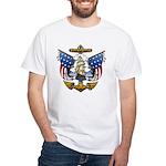 Naval Anchor Tattoo White T-Shirt