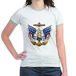 Naval Anchor Tattoo Jr. Ringer T-Shirt