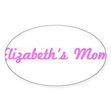 Elizabeth Mom (pink) Oval Decal