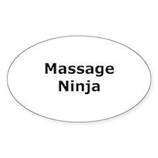 Massage Ninja Oval Decal