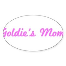 Goldie Mom (pink) Oval Decal