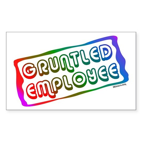 Gruntled/Happy Employee Rectangle Sticker