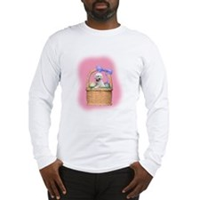 bichon easter basket Long Sleeve T-Shirt