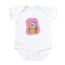 bichon easter basket Infant Bodysuit