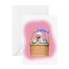 bichon easter basket Greeting Card