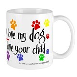 Yes, love dog, child Mug