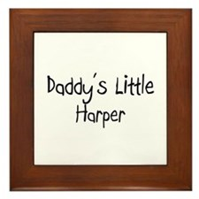 Daddy's Little Harper Framed Tile