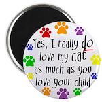 Love cat, child Magnet
