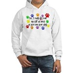 Love cat, child Hooded Sweatshirt