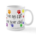 Love cat, child Mug