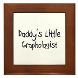 Daddy's Little Graphologist Framed Tile