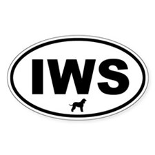 IWS (Irish Water Spaniel) Oval Decal