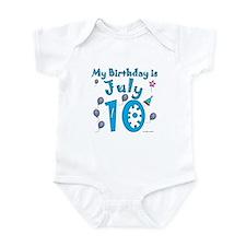 July 10th Birthday Infant Bodysuit