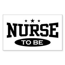 Nurse To Be Rectangle Decal
