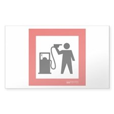 No Oil Dependence Rectangle Sticker 10 pk)
