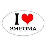 White Smegma Oval Decal